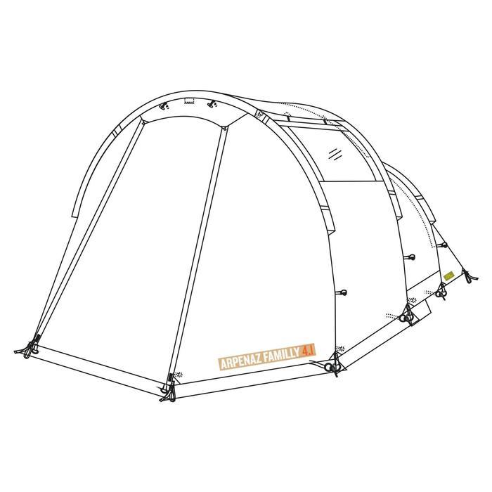 Buitentent voor tent Arpenaz Family 4.1