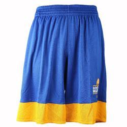 Pantalón corto de baloncesto adulto NBA Warriors blanco azul