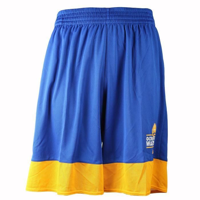 Short basketball adulte NBA Warriors blanc bleu