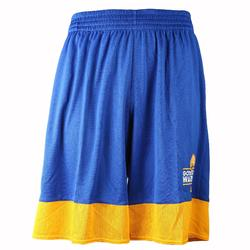Short basketball adulte NBA Warriors blanc bleu