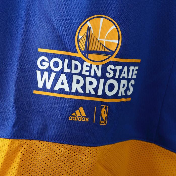 Short basketball adulte NBA Warriors blanc bleu - 1154924