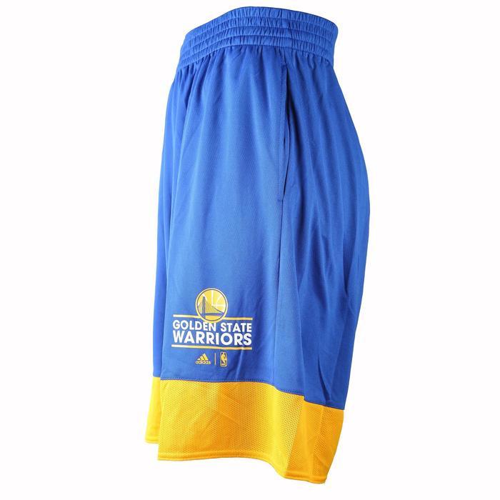 Short basketball adulte NBA Warriors blanc bleu - 1154925