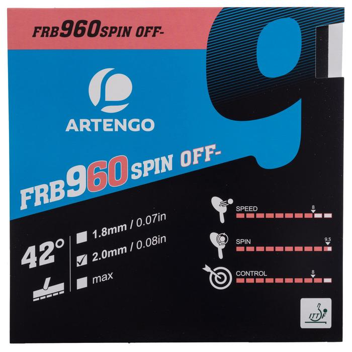 Tafeltennis rubbers FRB 960 spin 42°