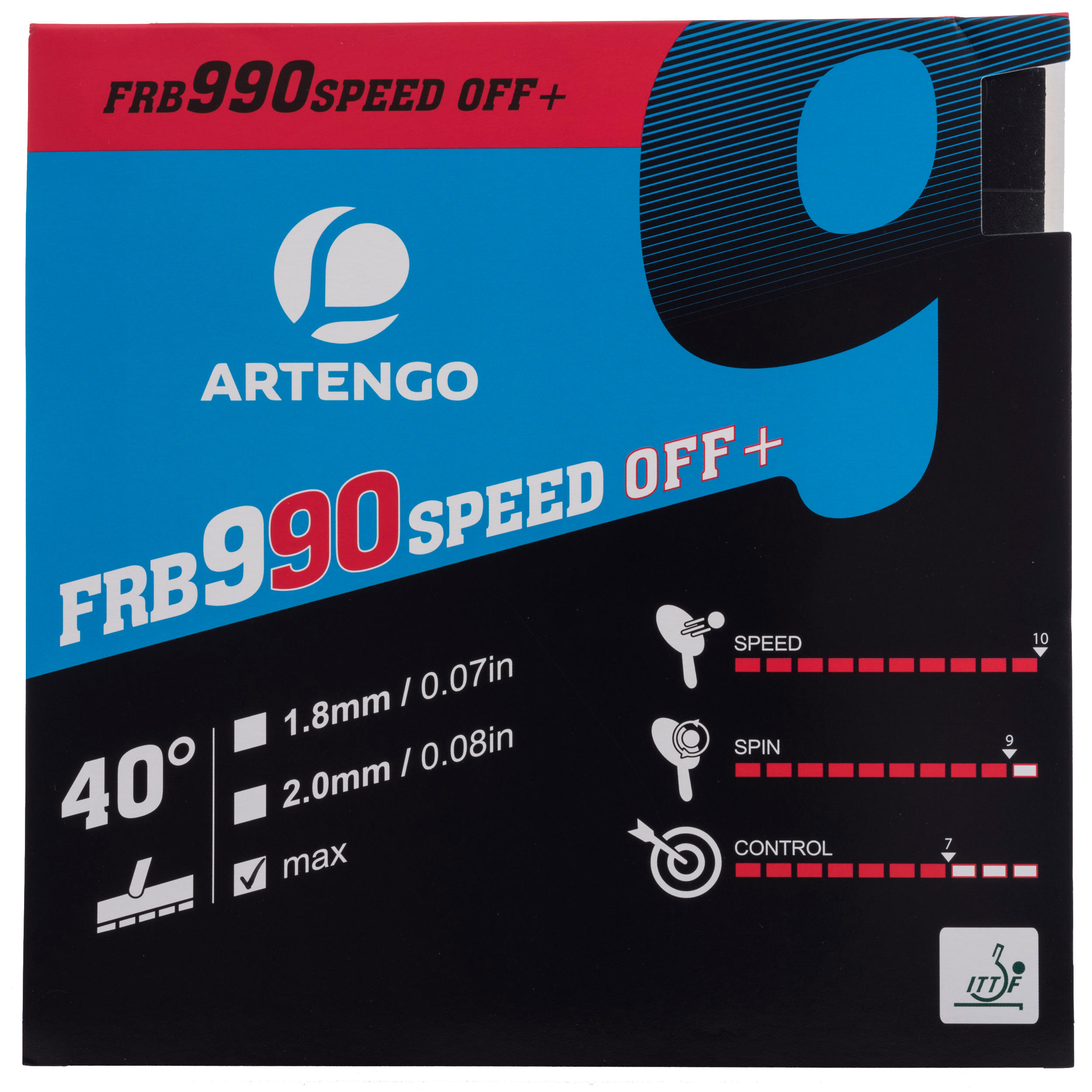 Artengo Tafeltennis rubbers FRB 990 Speed Off+ 40�