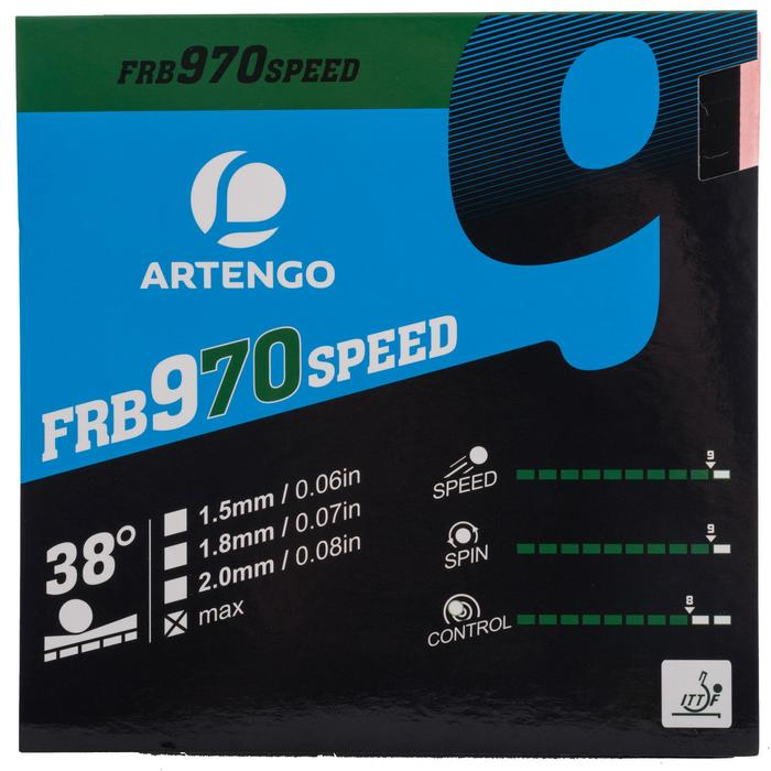 Tafeltennis rubbers FRB 970 Speed 38°