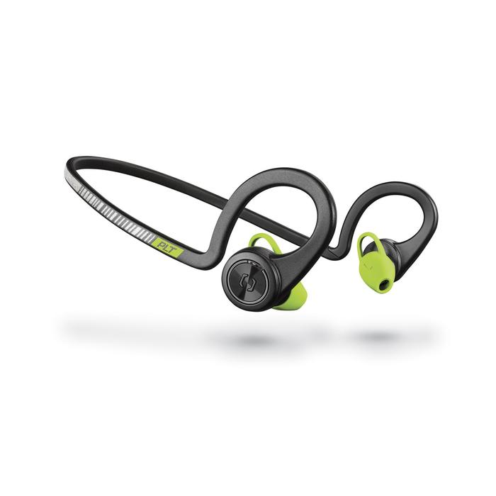 Ecouteurs sports sans fil Backbeat Fit bluetooth noir vert - 1155169