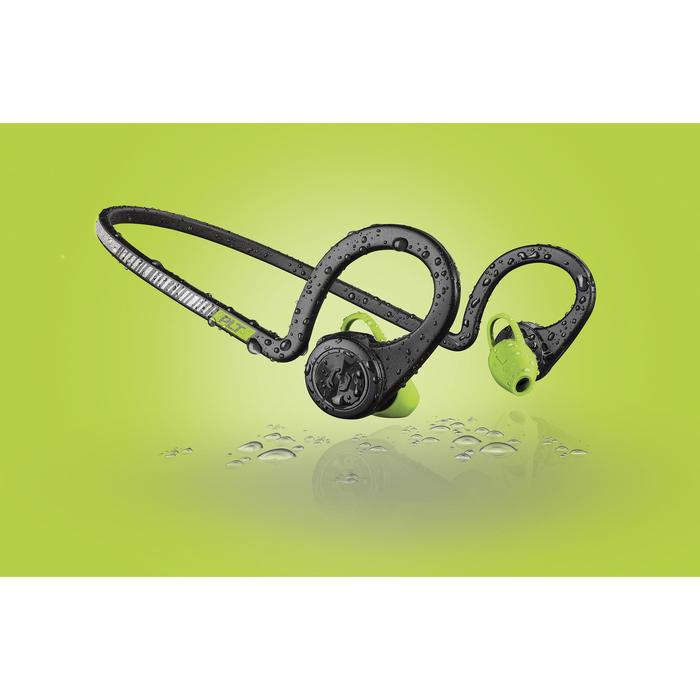 Ecouteurs sports sans fil Backbeat Fit bluetooth noir vert - 1155171