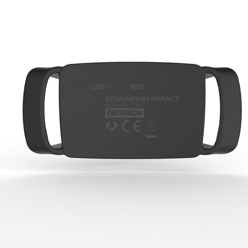 Battery operated trekking head lamp - ONNIGHT 100 black - 80 lumens