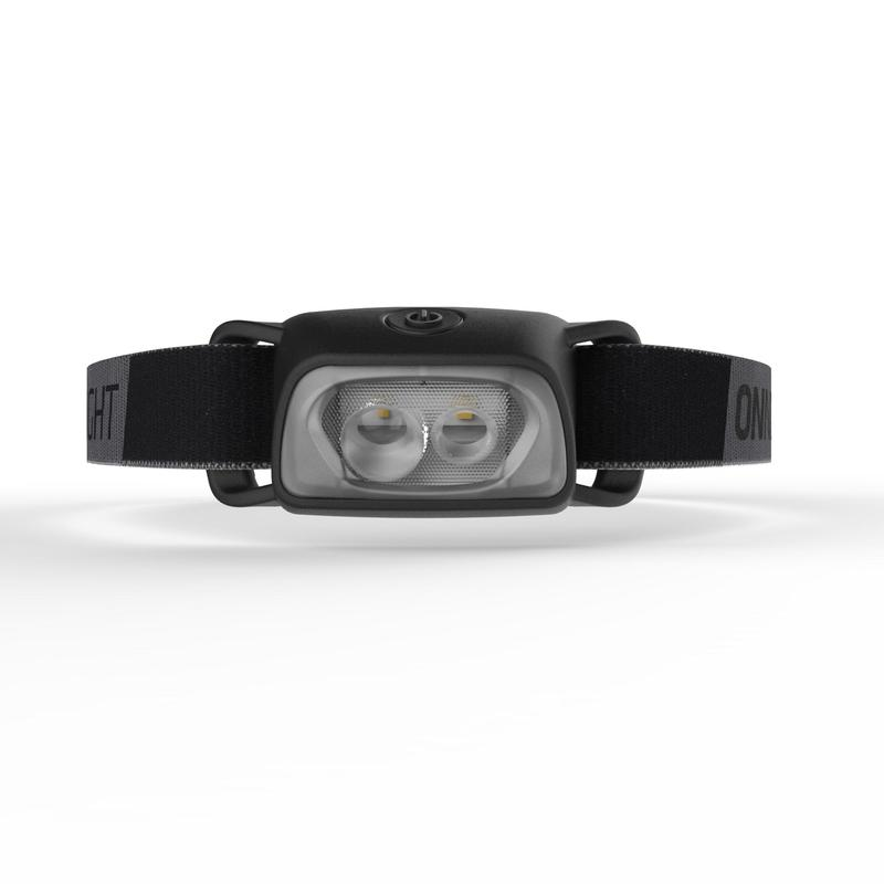 Battery operated trekking head lamp - ONNIGHT 100 black - 80 lumens
