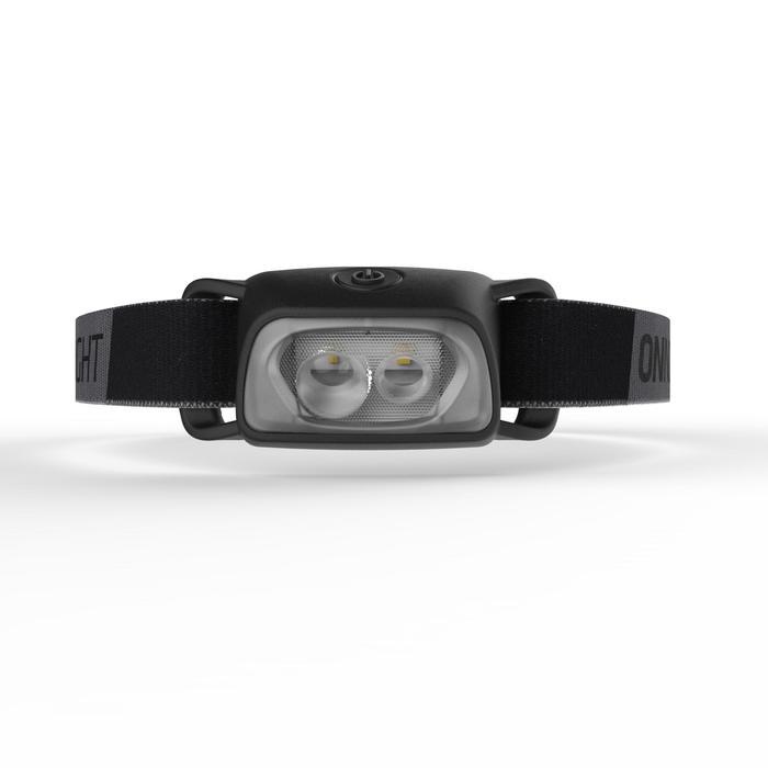 Linterna frontal de trekking ONNIGHT 100 negra - 80 lúmenes