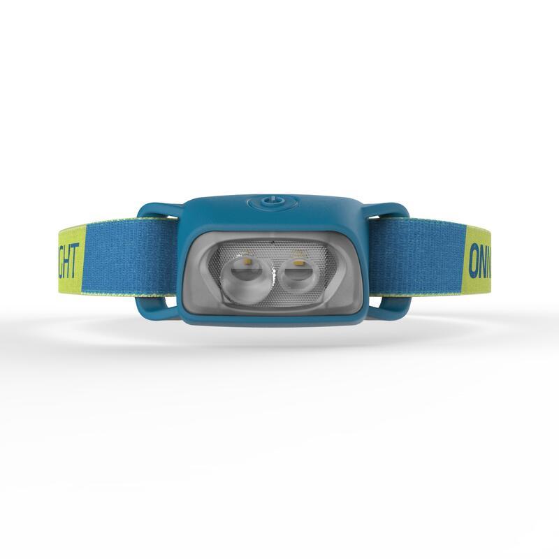 ไฟฉายคาดศีรษะใช้พลังงานจากแบตเตอรี่สำหรับเทรคกิ้งรุ่น ONNIGHT 100 ความสว่าง 80 ลูเมน (สีฟ้า)