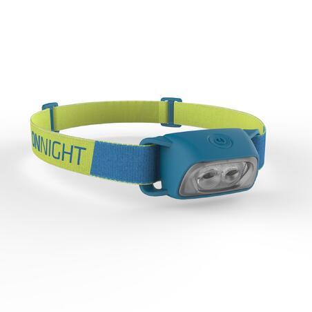 Lampe frontale de randonnée à piles Onnight 100 bleue 80 lumens