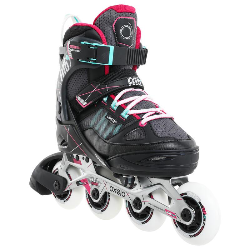 Kids' Inline Roller Skates Fit 5 Jr - Gray/Pink