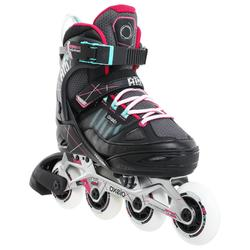 Fitness skates voor kinderen Fit 5 grijs/roze
