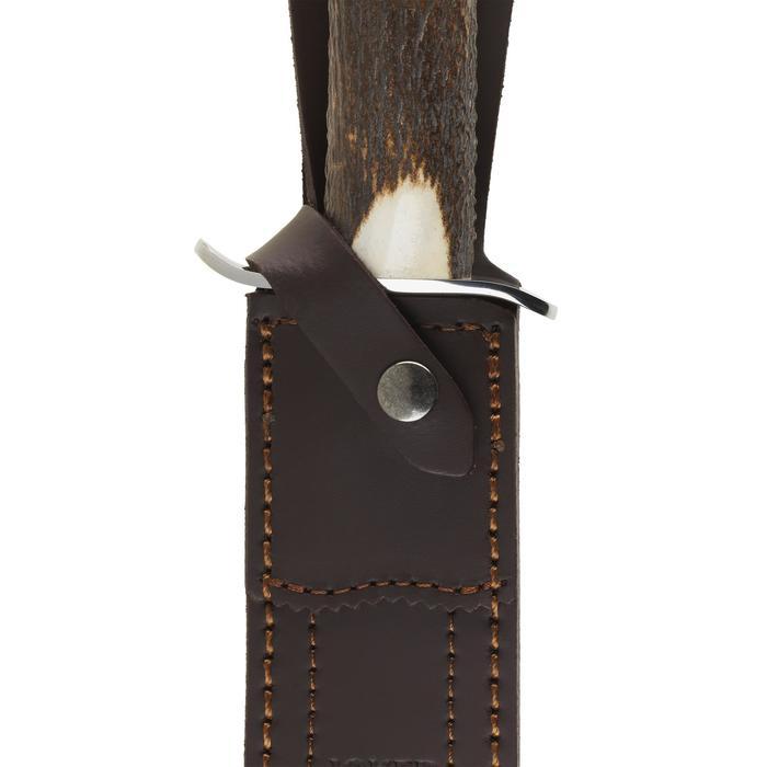Dague chasse 26 cm manche bois de cerf - 1155779