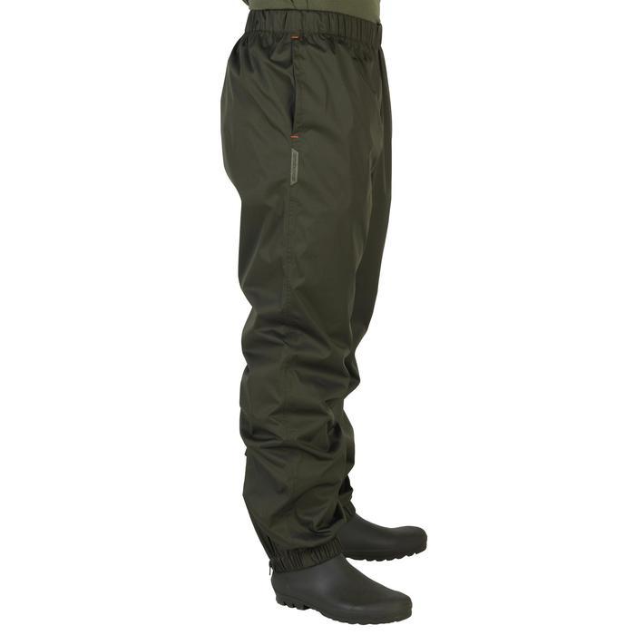 Surpantalon chasse imperméable 100 kaki - 1155854