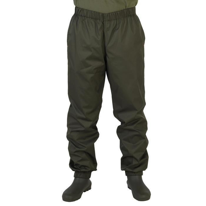 Surpantalon chasse imperméable 100 kaki - 1155855