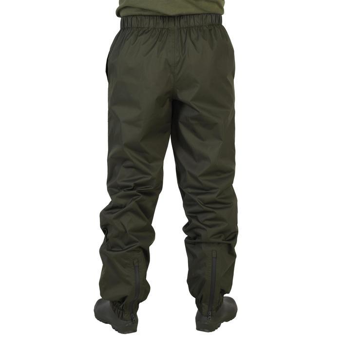 Surpantalon chasse imperméable 100 kaki - 1155857
