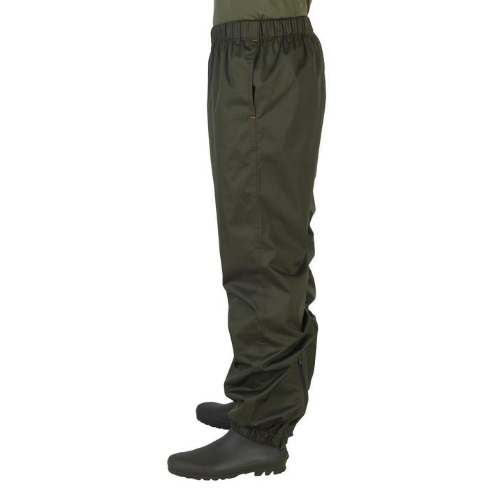 Surpantalon chasse imperméable 100 kaki - 1155858