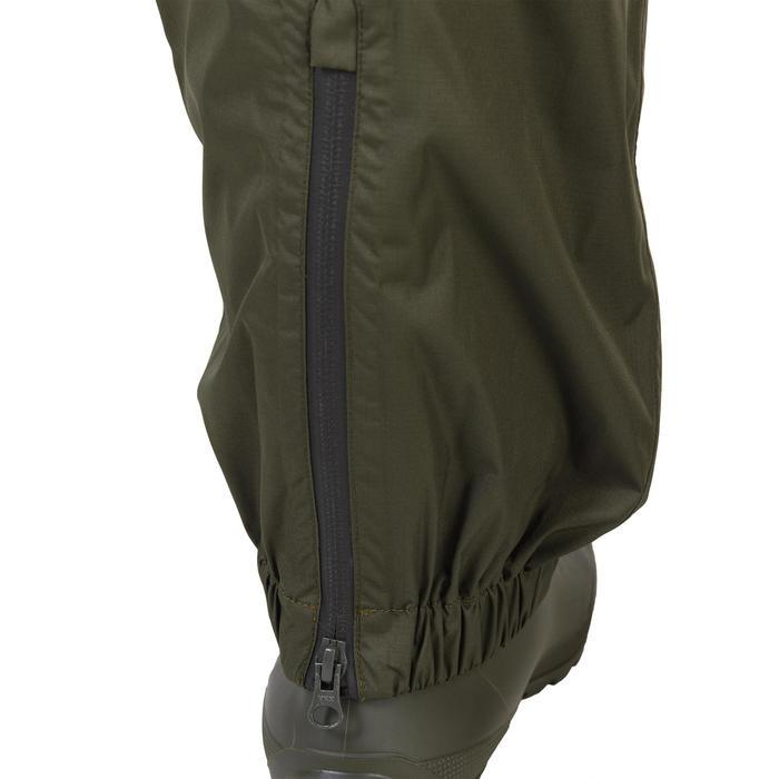 Jagd-Überziehhose 100 wasserdicht khaki