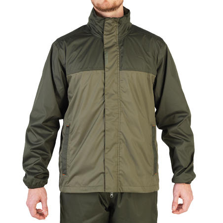100 WATERPROOF HUNTING JACKET - KHAKI
