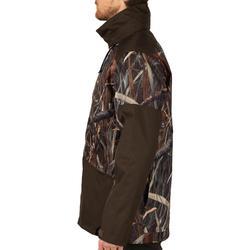Veste chasse imperméable 100 camouflage marais