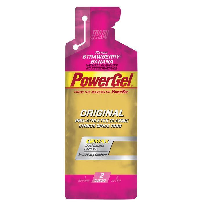 Energiegel Powergel aardbei/banaan 4x41 g