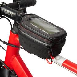 Bolsa smartphone rígida para cuadro de bicicleta.