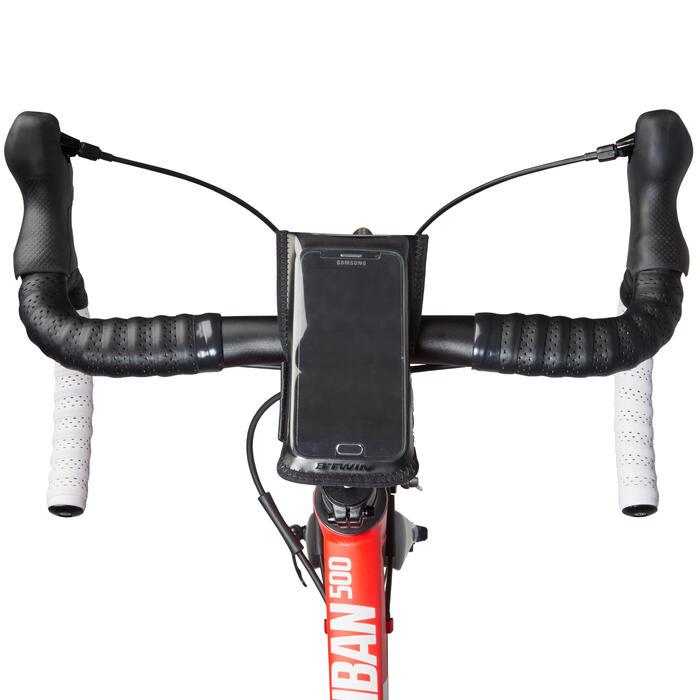 Support vélo smartphone 500 Jaune