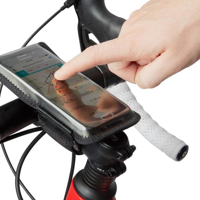 Smartphonehouder voor op de fiets 500 zwart