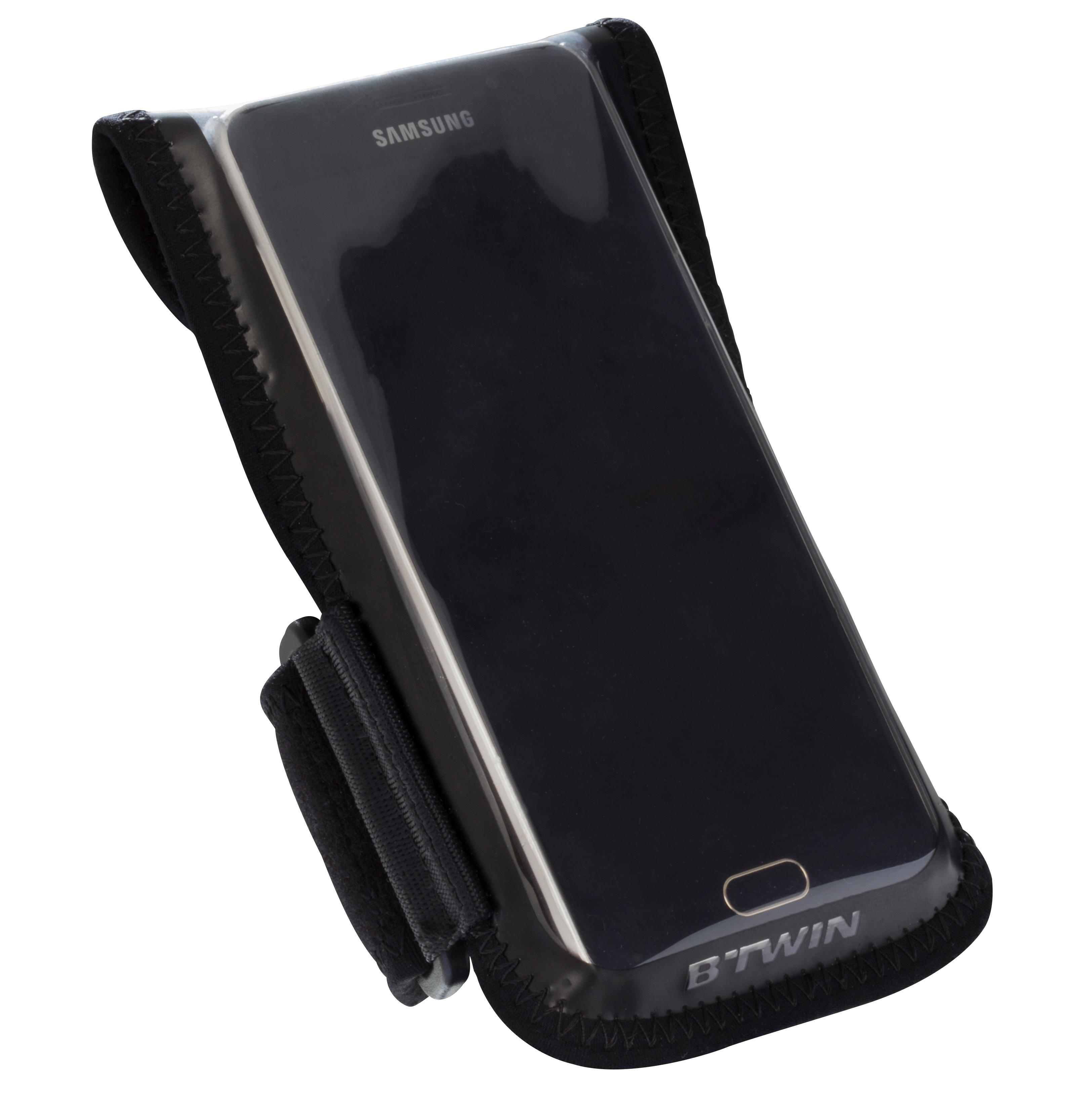 Soporte para celular para bicicleta 500 negro
