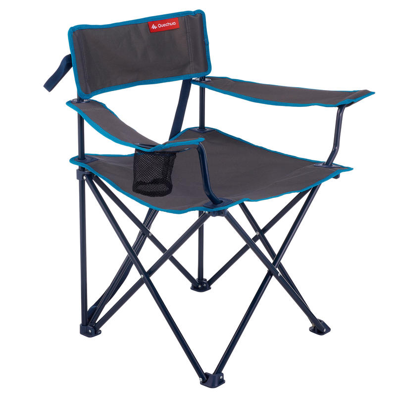 Camping Chair Foldable Armchair Grey