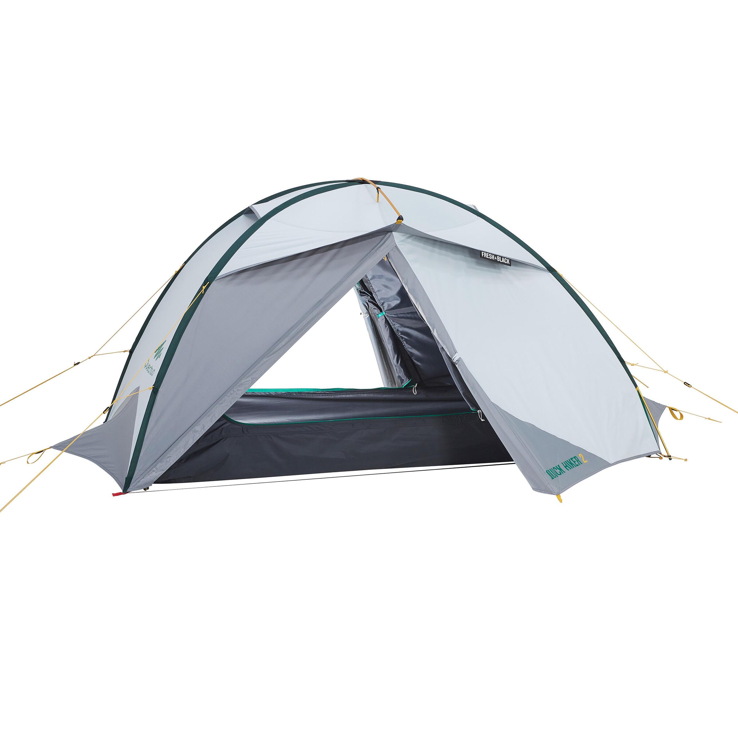 Quechua Tent | 2 Persoons | Grijs | Quickhiker Fresh & Black