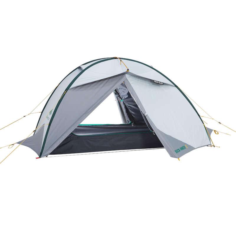 TENTS, TENTS ACCESSORIES TREK - Tent Quickhiker 2 Fresh&Black FORCLAZ