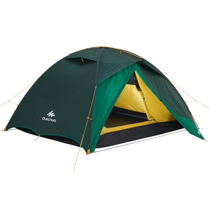 Tente de trek Quick Hiker 3 personnes verte - 1156338