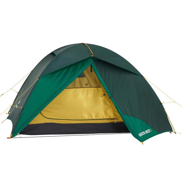 Tente de trek Quick Hiker 3 personnes verte - 1156372