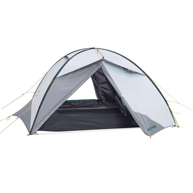 TENTS, TENTS ACCESSORIES TREK - Tent Quickhiker 3 Fresh&Black FORCLAZ