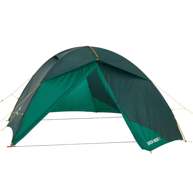 SPARE PART TREKKING TENTS Camping - Quick Hiker 3P Flysheet Green FORCLAZ - Tent Spares and Repair
