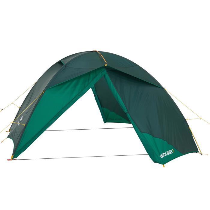 Tente de trek Quick Hiker 3 personnes verte - 1156399