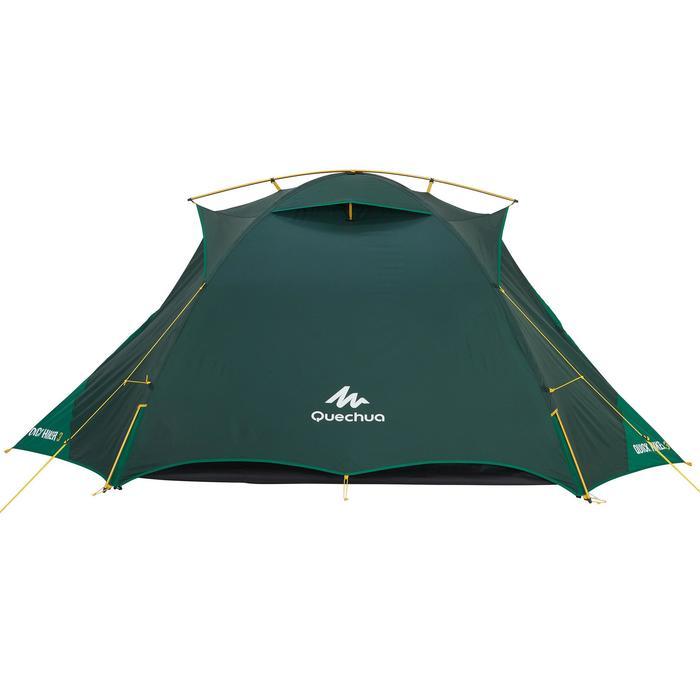 Tente de trek Quick Hiker 3 personnes verte - 1156405