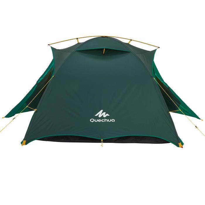 Tente de trek Quick Hiker 3 personnes verte - 1156419