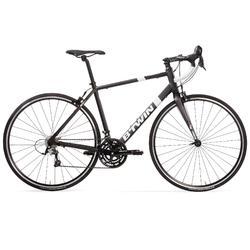Racefiets / wielrenfiets Triban 500 zwart/wit met Microshift