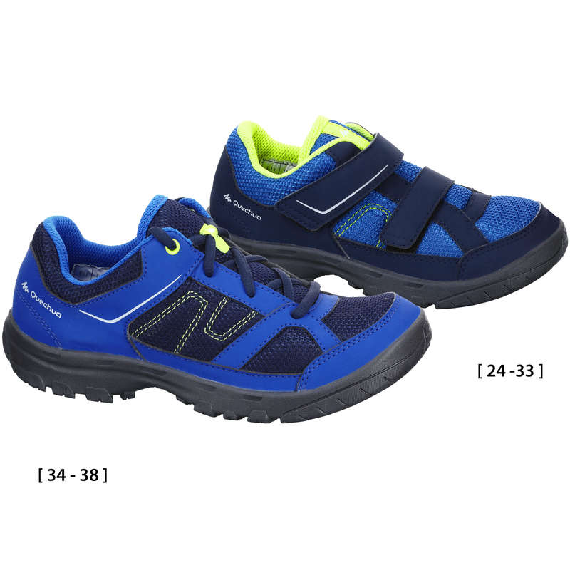SHOES BOY Hiking - MH100 Kids Walking Shoes - Blue  QUECHUA - Outdoor Shoes