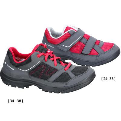 Chaussures de randonnée enfant MH100 JR roses 24-38
