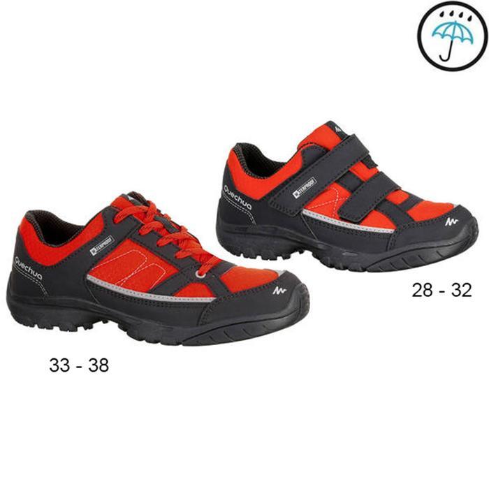 Chaussures de randonnée enfant NH100 imperméables Bleu Corail - 1156654