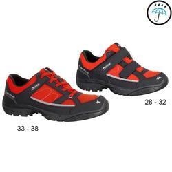 兒童防水健行運動鞋 NH100 - 紅色