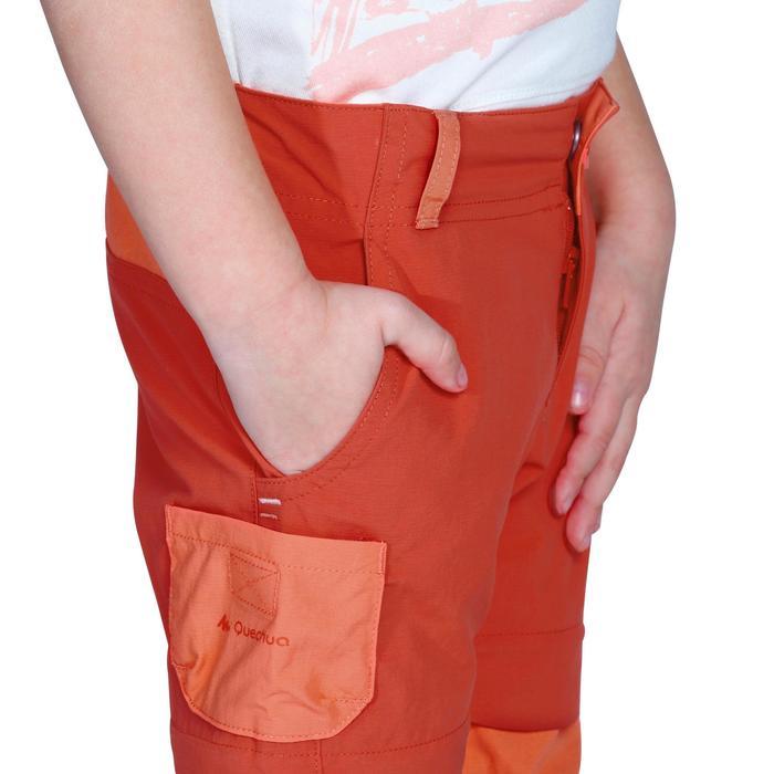 Pantalón de senderismo transformable júnior Hike 900 naranja