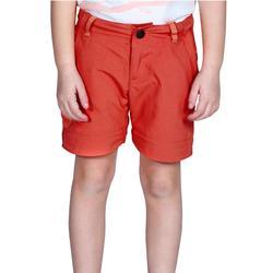 Pantalon de randonnée modulable enfant Hike 900 orange