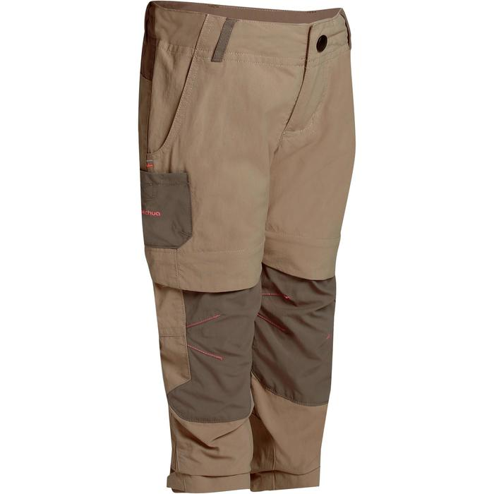Pantalón transformable de senderismo júnior Hike 500 beige