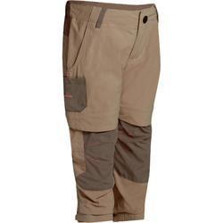 女童可調整健行長褲 Hike900-米色